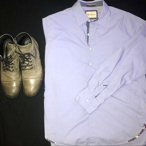 Robert Graham | Long Sleeve Button Up large blue